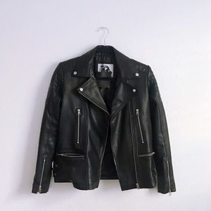 Genuine Leather Moto Jacket